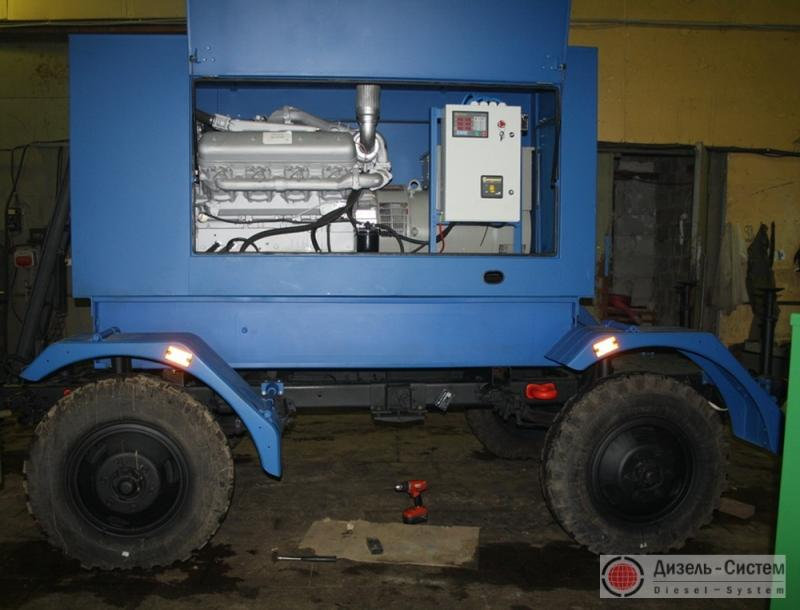 АД-150-Т400-1Р генератор 150 кВт на шасси прицепа