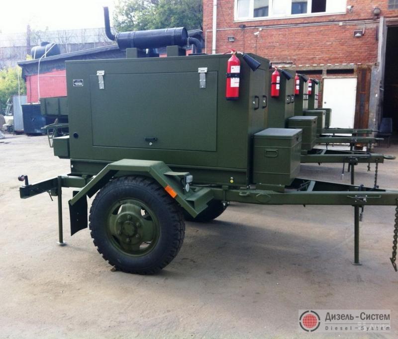 АД-60-Т400 (ЭД-60-Т400) генератор 60 кВт на одноосном шасси в капоте