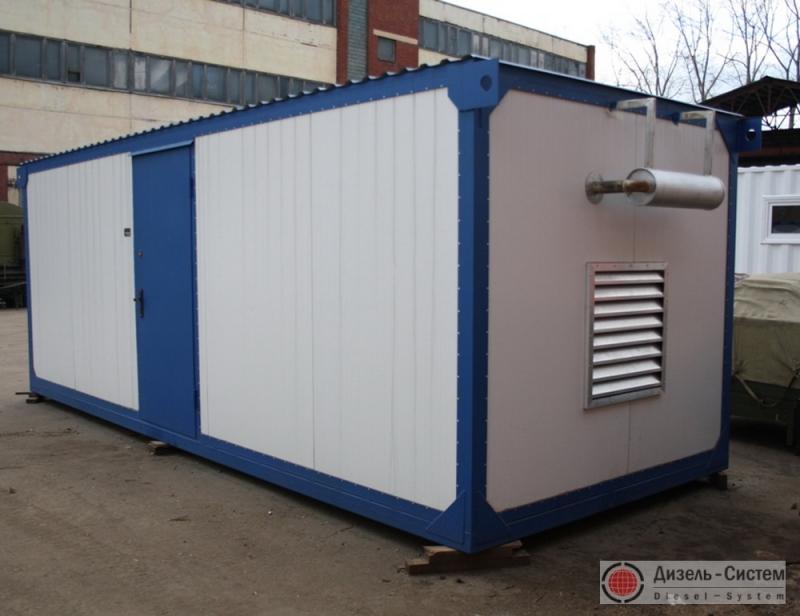 АД-350С-Т400-1ГТН (АД-350-Т400-1ГТН) генератор 350 кВт в утепленном блок-контейнере с ручным запуском
