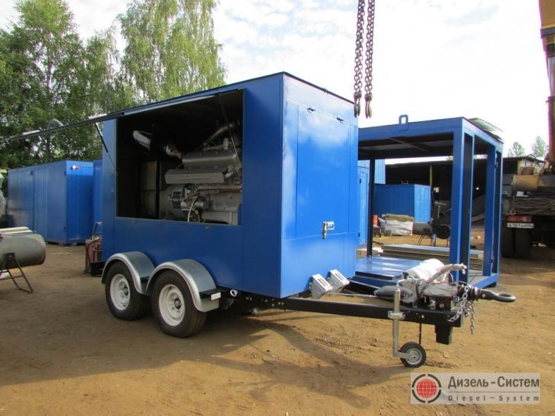 АД-80-Т400 генератор 80 кВт на двухосном прицепе