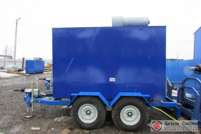 фото генератора 75 кВт LSA 44.2 VS45 Leroy Somer под капотом на шасси прицепа