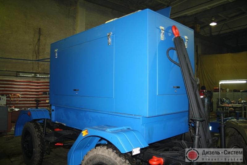 АД-80-Т400-1Р генератор 80 кВт на двухосном шасси прицепа