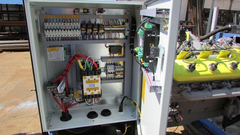 Системы автоматики управления газопоршневой электростанции 100 кВт