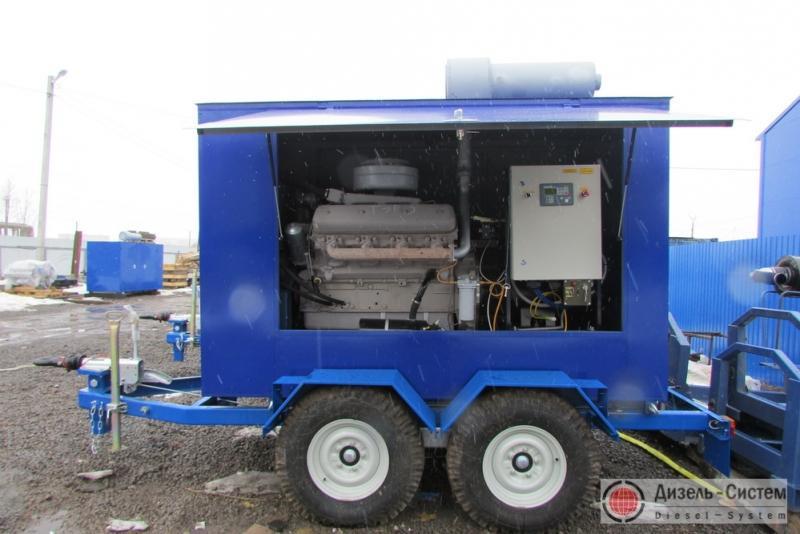 фото генератора 100 кВт LSA 44.2 S7 Leroy Somer под капотом на шасси прицепа