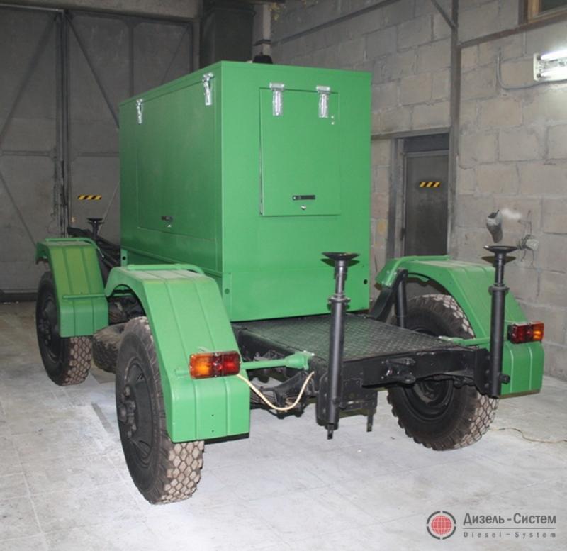 АД-300-Т400-1Р генератор 300 кВт на шасси прицепа