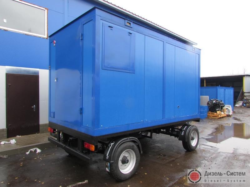 ЭД80-Т400-2РК (ЭД80-Т400-2РН) электростанция 80 кВт в блок-контейнере на шасси  прицепа
