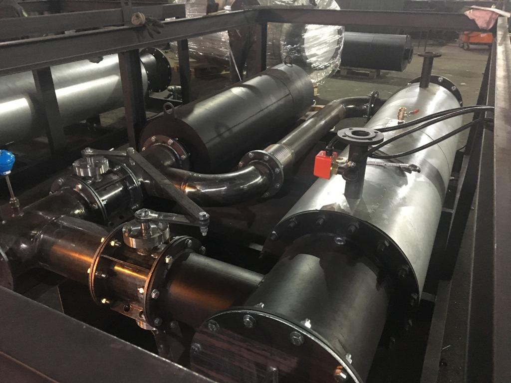 Утилизатор выхлопных газов и контура охлаждения двигателя