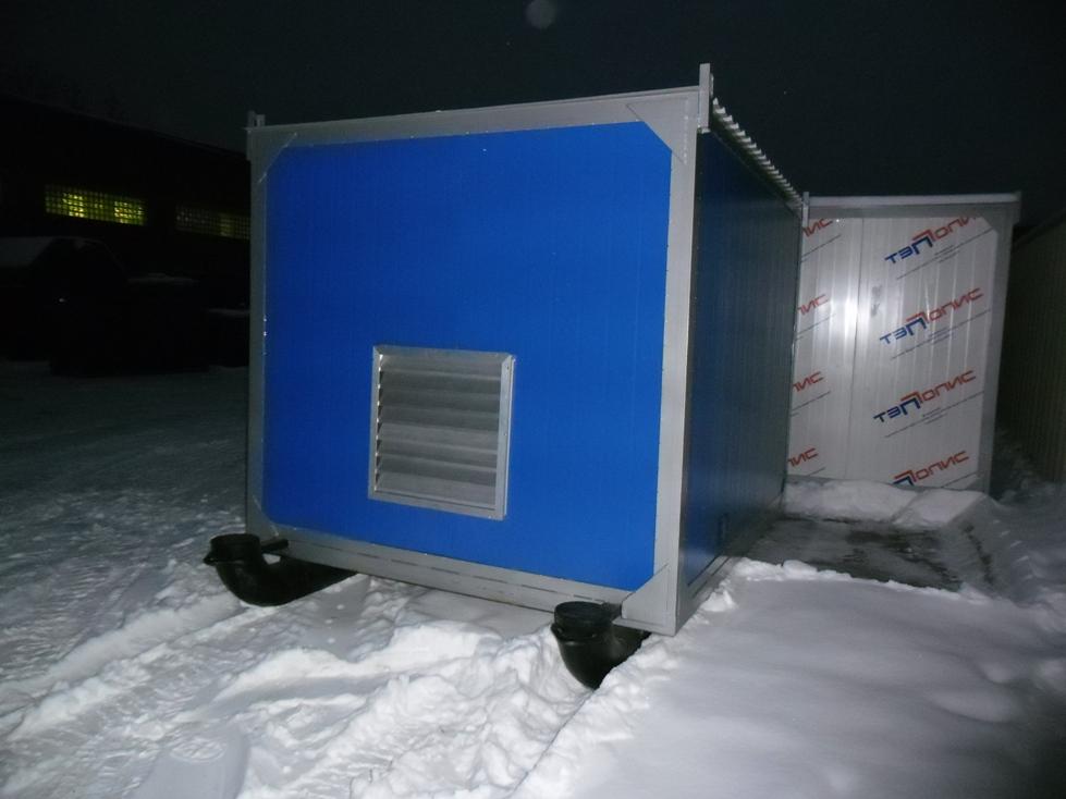 фото АД 160 в контейнере на санях