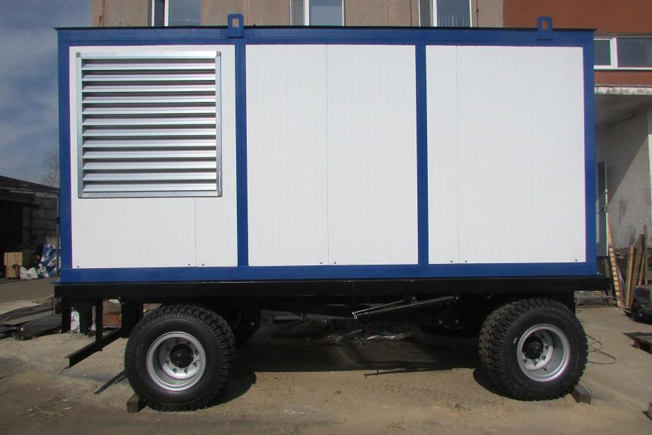 дизель-генератор в блок-контейнере на шасси