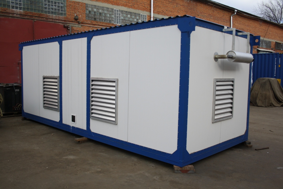 фото АД 160 в утепленном блок контейнере
