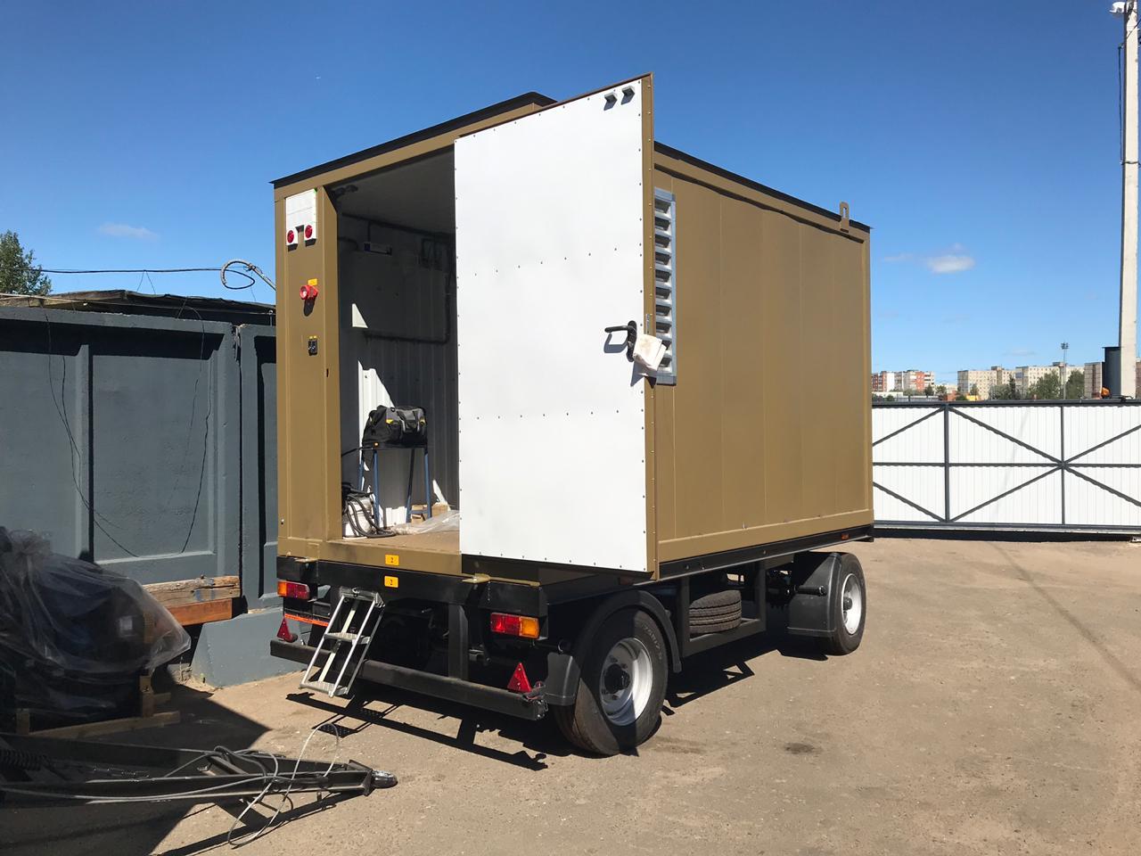 фото АД 250 в контейнере на шасси