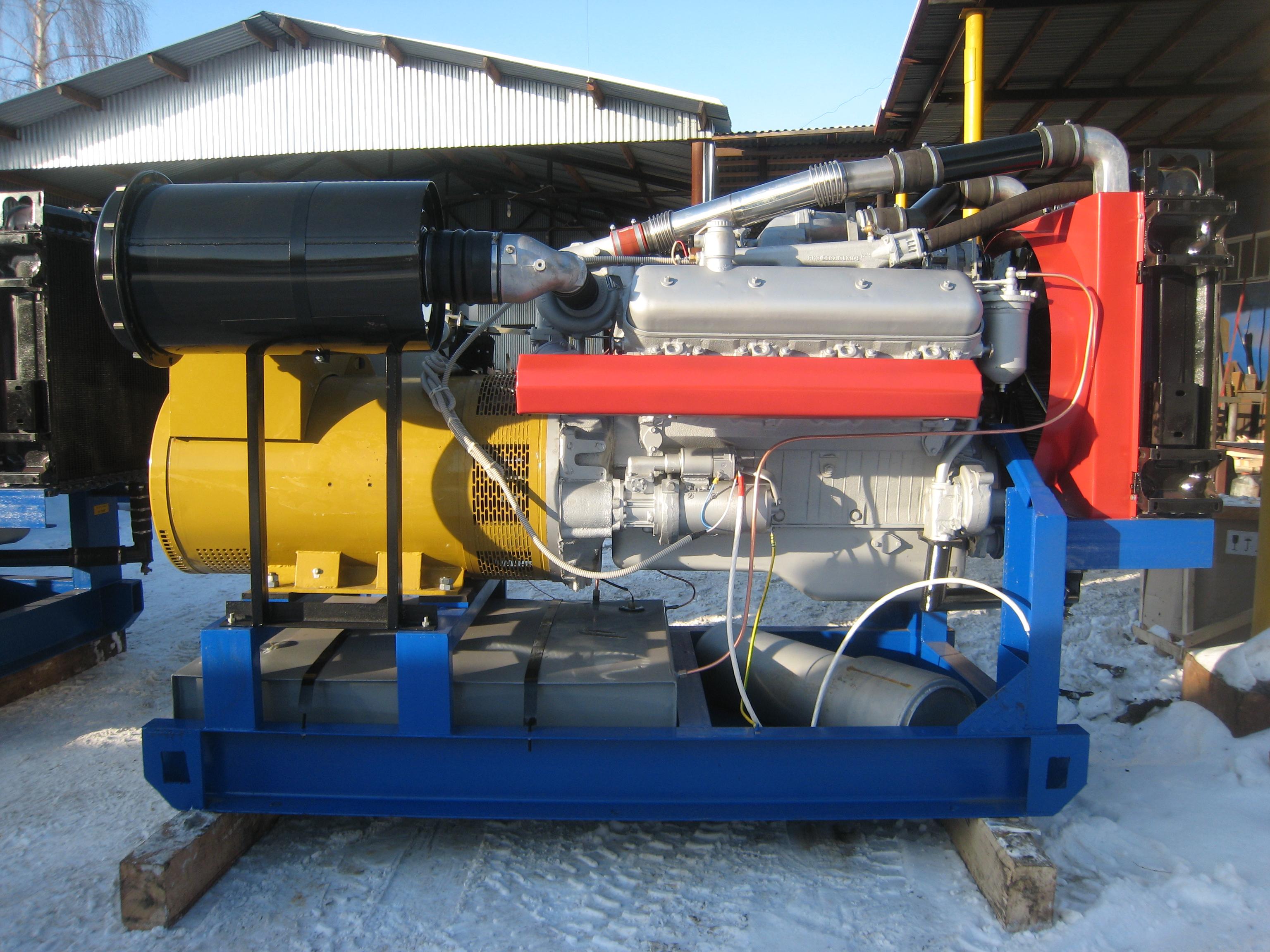 АД-250 на двигателе ЯМЗ-7514.10-03 открытого исполнения на раме