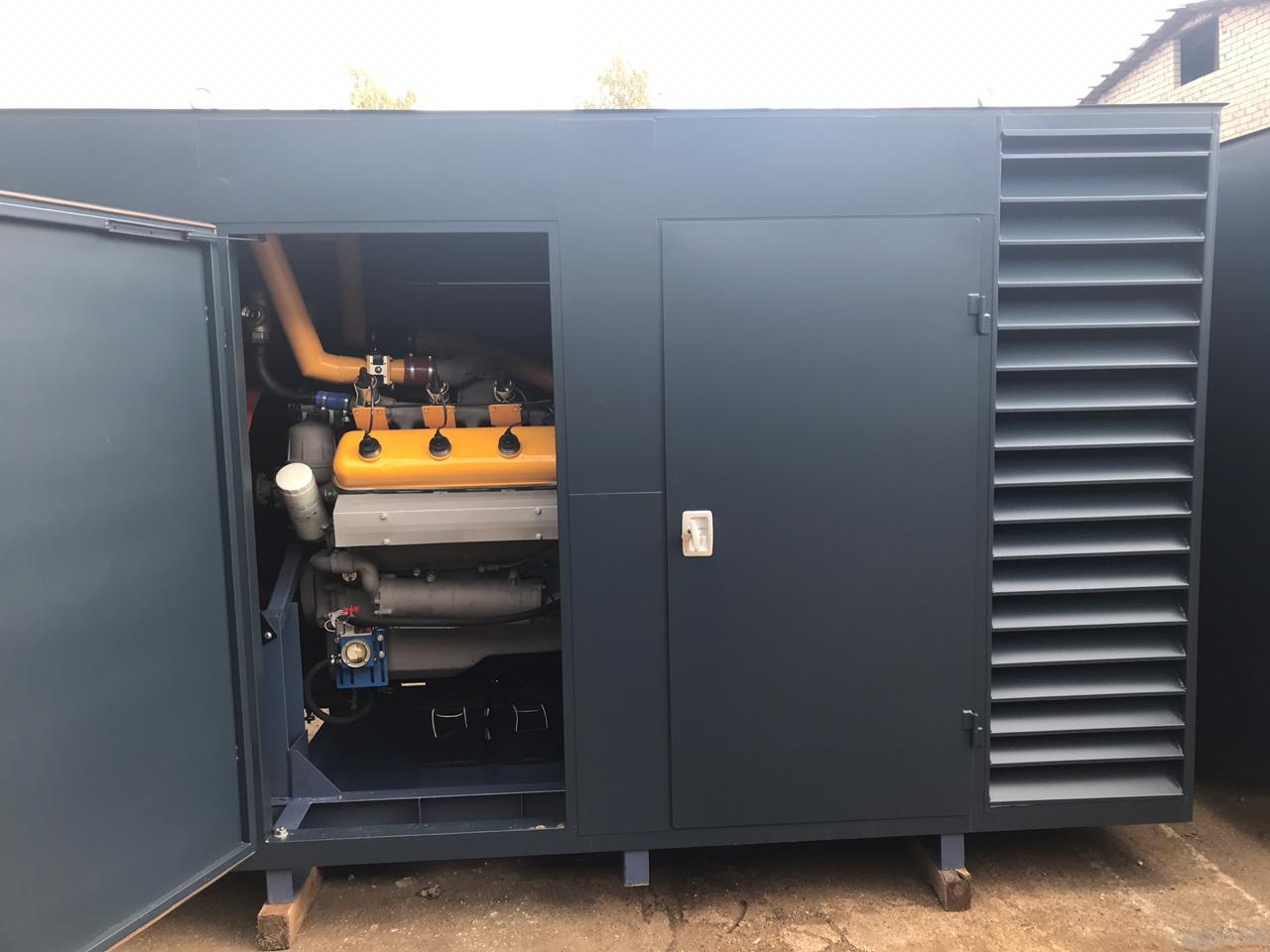 Газовый генератор 100 кВт кВт в кожухе