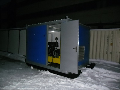фото АД 20 в контейнере на санях