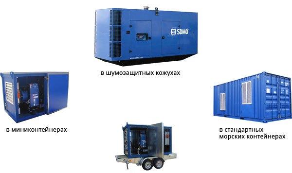 выбор исполнения дизель-генератора