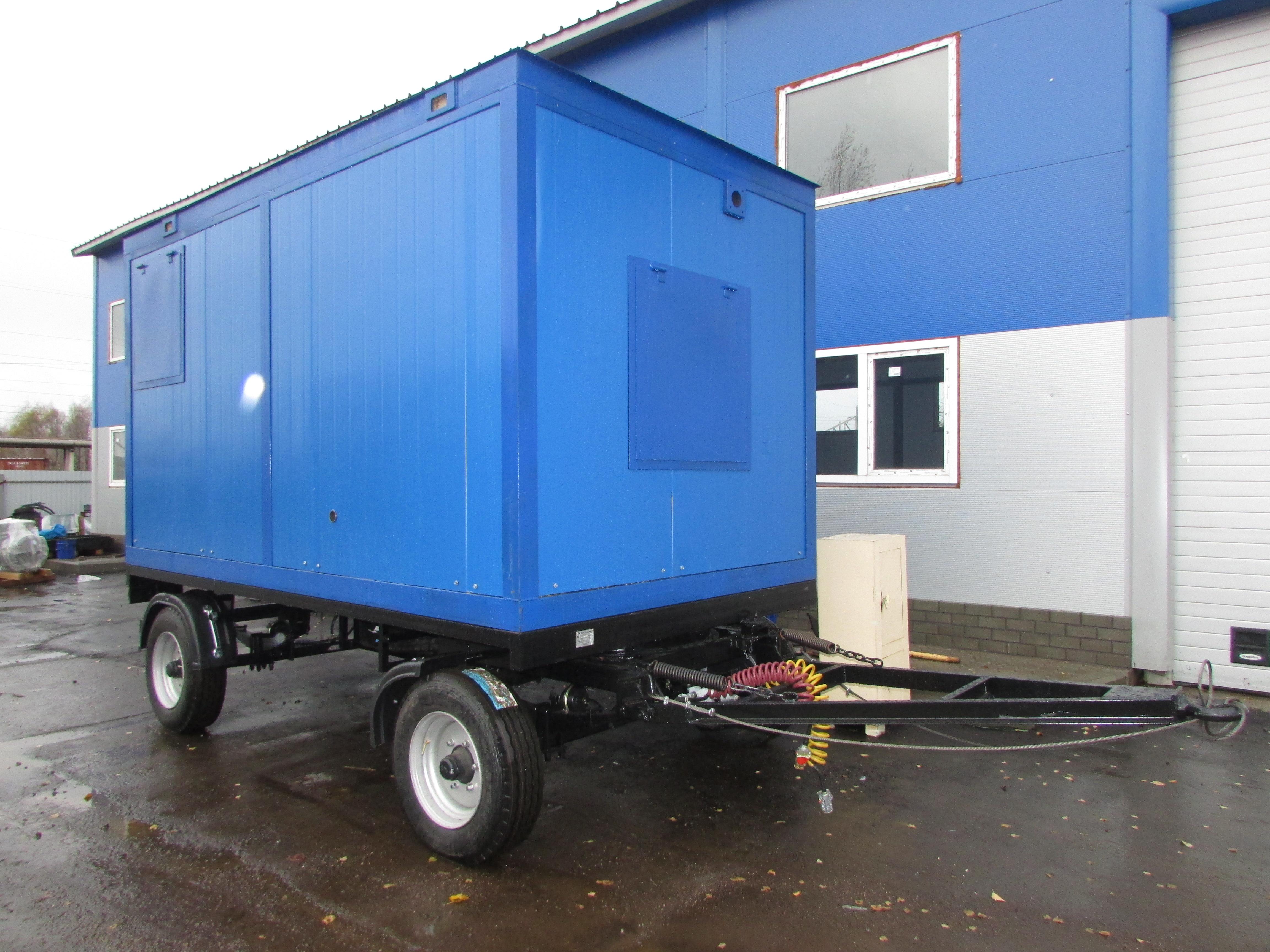 Дизель-генератор в блок-контейнере на прицепе от производителя - Компания Дизель Систем