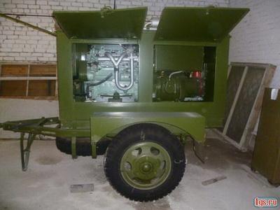 ЭД30-Т400 с консервации на прицепе под капотом