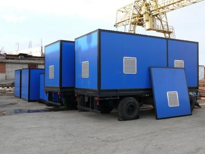 дизельная электростанция ДЭС  ДГУ в контейнере на шасси