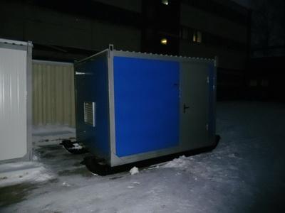 фото АД 150 в контейнере на санях