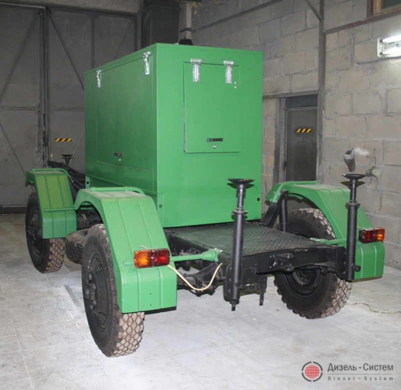 АД-120-Т400-1Р генератор 120 кВт на шасси прицепа
