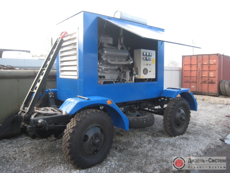 АД-100-Т400-1РП генератор 100 кВт на шасси прицепа